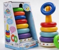 幼教玩具 七彩套圈 音乐七彩虹 不倒层层叠 音乐叠叠乐不倒翁 价格:18.00