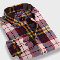 2013年春季新款正品优鲨男装磨毛加厚花格子男士长男长袖衬衫 价格:59.00