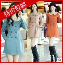 2013新款秋季风衣  韩版修身甜美OL拼接显瘦 女大码风衣 价格:98.90