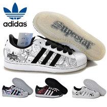 正品 adidas 阿迪达斯三叶草贝壳头板鞋透气涂鸦彩绘男女鞋G01863 价格:165.00