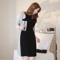 特价2013春夏新品外贸原单韩版修身无袖大码黑色连衣裙打底背心裙 价格:85.00