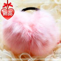 特价保暖毛毛耳套女耳罩仿兔毛狐狸毛耳捂耳暖护耳毛绒耳罩耳包冬 价格:45.00