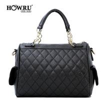 优哈2013韩版新款手提包包包邮时尚潮斜跨女士菱格挎包手提包女包 价格:69.00