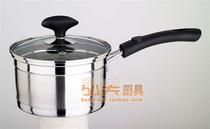 欧富欧雅16cm不锈钢复底奶锅/单柄汤锅/电磁炉锅/直角锅/三层复底 价格:38.90
