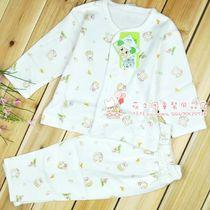 安吉小羊全棉婴儿内衣印花双面布全开两用套装 婴儿服饰 价格:26.80