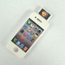 创意火机苹果手机电子点烟器/USB充电打火机超薄正品防风雅安地震 价格:13.53