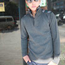 秋冬新款男士毛衣线衫以纯棉为主长袖衬衫领假两件毛衣男款针织衫 价格:59.00