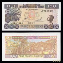 【金匙收藏】非洲钱币-几内亚100法郎 1960年版 纸币 价格:4.90
