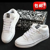 包邮 正品万斯中帮板鞋 vans 滑板鞋 韩版潮鞋男鞋女鞋 白色 价格:118.00