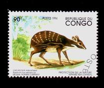 外国 邮票 661 刚果 盖销邮票单枚 大票幅动物图 价格:0.60