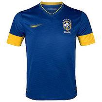 欧版正品 正版12-13巴西球衣客场 巴西足球服短袖 罗纳尔多球衣 价格:84.00