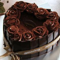 心形巧克力生日蛋糕 高档巧克力蛋糕 广州东莞深圳上海 全国配送 价格:158.00