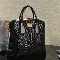 kabee 2013新款石头纹豹纹欧美大牌风高端手提包牛皮包女真皮女包 价格:450.00