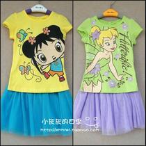 外贸原单nickelodeon 女童短袖T恤+裙子纱裙 超值30元 价格:40.00