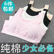 少女文胸 纯棉 内衣 小背心式 女孩 学生 裹胸 无钢圈 女生发育期 价格:7.70