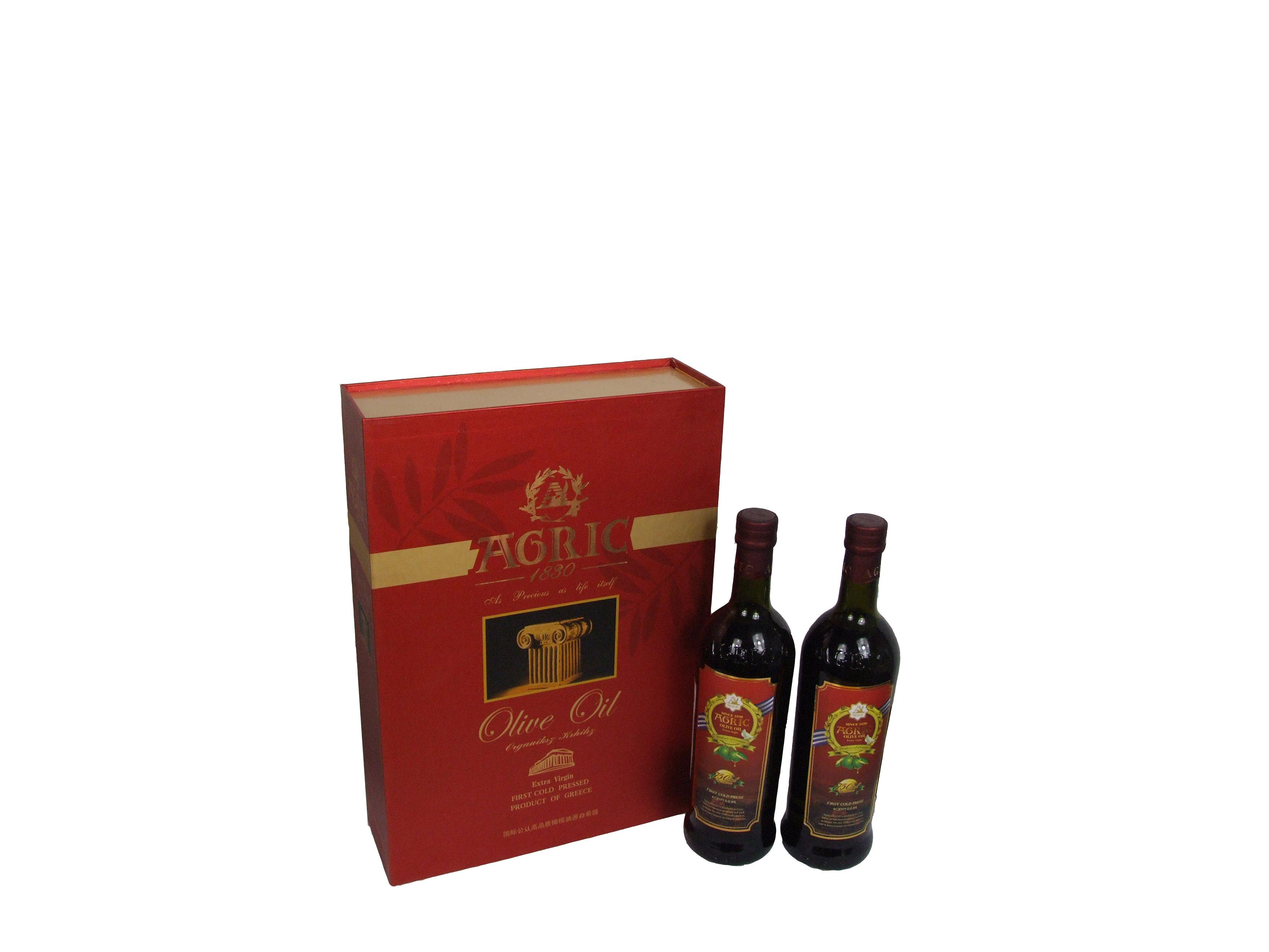 阿格利司特级初榨橄榄油健康传递高级礼盒750ML瓶装*2食用油 价格:168.00
