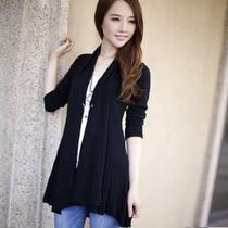 2013秋装新款专柜正品CCDD秋款拉夏贝尔女装开衫中长款针织衫外套 价格:90.00
