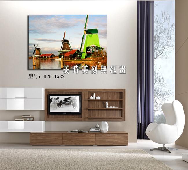 客厅 餐厅 壁画 风景画 荷兰风车王国 装饰画 时尚无框画 挂画 价格:26.00