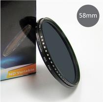 包邮绿叶可调减光镜 58mm 佳能18-55 650DND中灰镜可调ND2-ND400 价格:108.00