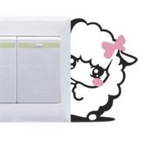 涂鸦墙贴纸/玻璃贴膜/彩色开关贴-美羊羊 价格:1.00