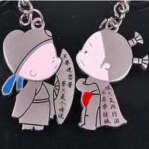 情侣钥匙扣 钥匙圈(小破孩语录)yaoshikou 价格:3.50