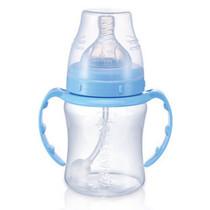 双冠 厂家授权BS4699 贝儿欣6安士宽口径十字孔吸管奶瓶 蓝色 价格:57.60