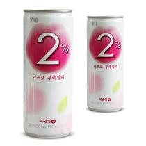 限区包邮韩国进口食品果味饮料 乐天2%水蜜桃桃汁饮品听装240ml 价格:3.00