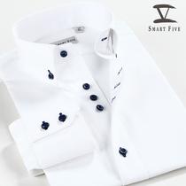SmartFive 2013新品商务休闲纯色衬衣纯棉免烫修身男士长袖白衬衫 价格:138.00