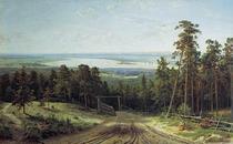 俄罗斯油画名画复制 希施金Ivan I. Shishkin卡玛斯河远眺 价格:820.00