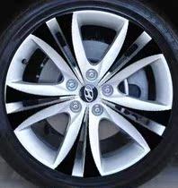 现代劳恩斯酷派轮毂贴 酷派轮毂碳纤维改装贴 轮胎贴纸 价格:3.40