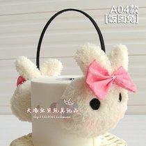 可爱动漫韩版时尚卡通耳罩 超萌饭团兔款耳套毛绒耳暖 多款式可选 价格:12.00