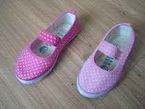 青岛环球儿童帆布鞋 女童体操鞋 舞蹈鞋 春秋点点单鞋 14-34码 价格:13.00