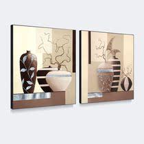 天画静物装饰画简约有框画家居饰品客厅壁画墙画餐厅二联画 价格:68.64