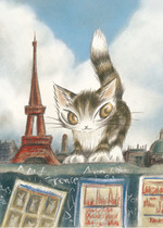 代购日本Yanoman进口500片拼图 达洋猫  艾菲尔铁塔 价格:235.00