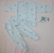 蜜依王子5138 宝宝纯棉全棉素色印花桃领开胸套 婴幼儿保暖开衫 价格:32.00
