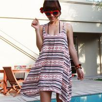 夏季韩版新款甜美沙滩衣比基尼罩衫背心裙沙滩裙连衣裙夏装 价格:45.00