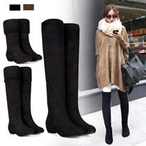 韩国进口弹力绒一鞋三穿修身骑士靴中跟欧美风高筒靴过膝靴子525 价格:88.00