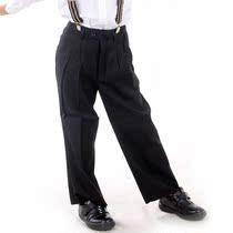 男童装男孩儿童学生毕业照合唱团舞台演出服装纯黑色长西裤子校服 价格:46.00