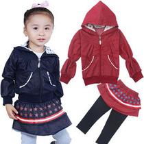 清仓特价亚卡比童装1岁2岁3岁4岁女童秋装儿童休闲2件套长袖+裙子 价格:39.00