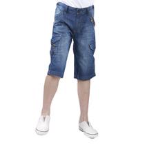 HOO男童牛仔裤 儿童牛仔短裤中小童五分裤男孩牛仔中裤夏正品清仓 价格:29.90