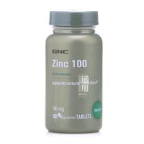 美国GNC锌片 螯合葡萄糖酸锌 100mg*100片 儿童补锌 益智健脑 价格:96.00