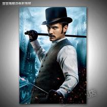 电影海报 大侦探福尔摩斯2[F5530]裘德洛Jude Law装饰挂壁画 价格:12.00