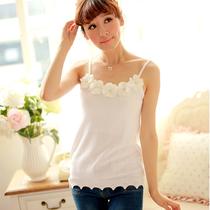 春秋装新款女装针织打底衫黑白色小吊带背心修身韩版109D419金 价格:33.00