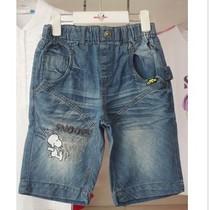 正品史努比 童装男童牛仔五分裤儿童中裤七分裤儿童裤清仓 价格:79.00