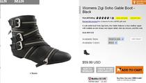 2010新款 拉链金属皮带扣 PU罗马时尚短靴 价格:148.00