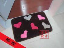 冲钻特价~宏阳家居地毯〓可爱咖啡桃心〓◇地垫 地毯〓40*60CM心 价格:22.50