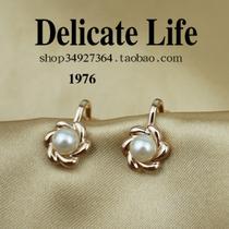 精致OL珍珠花朵耳夹 无耳洞耳环 韩国 复古 饰品 首饰 耳饰E2310 价格:9.90