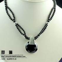 图琳 原创设计 天然黑玛瑙925泰银项链  暗夜精灵 价格:458.00