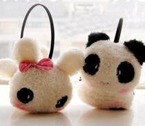 冬天必备 韩版可爱时尚 卡通熊猫兔子 毛绒 保暖护耳套/耳罩 价格:9.80