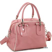 2013春夏新款糖果色漆皮包包手提单肩斜挎时尚撞色小包包果冻女包 价格:28.00